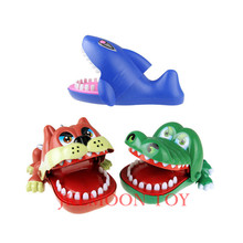 Large Bulldog Crocodile Shark Mouth Dentist Bite Finger Game Funny Novelty Gag Toy for Kids Children Play Fun