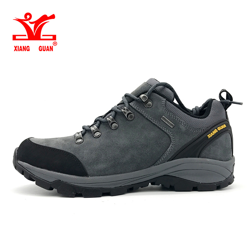 2017 xiang guan man waterproof hiking shoes Cattlehide Anti-skid Wear resistant breathable fishing outdoor climbing Sneakers new hot sale children shoes comfortable breathable sneakers for boys anti skid sport running shoes wear resistant free shipping