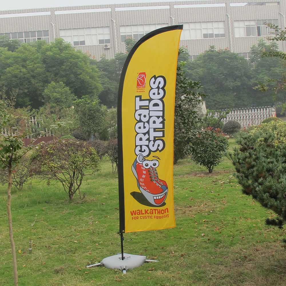 3.6m Feather Flag Flying Flag Banner Stand For Advertising