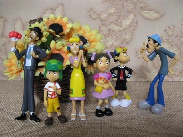 Pvc Figure El--- C Ha Vo Ka Rt Doll Ornaments 6pcs/set