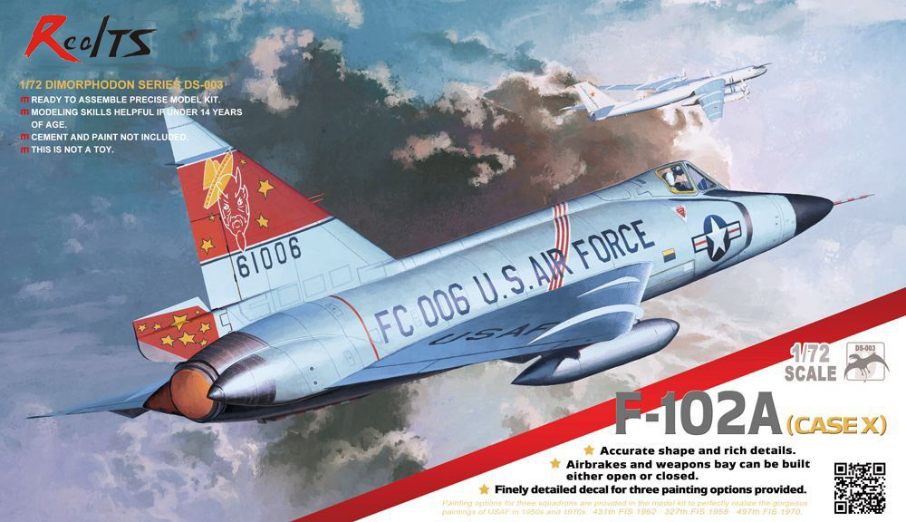 RealTS MENG MODEL 1/72 SCALE military models #DS-003s F-102A (CASE X) GEORGE WALKER BUSH plastic model kit цена