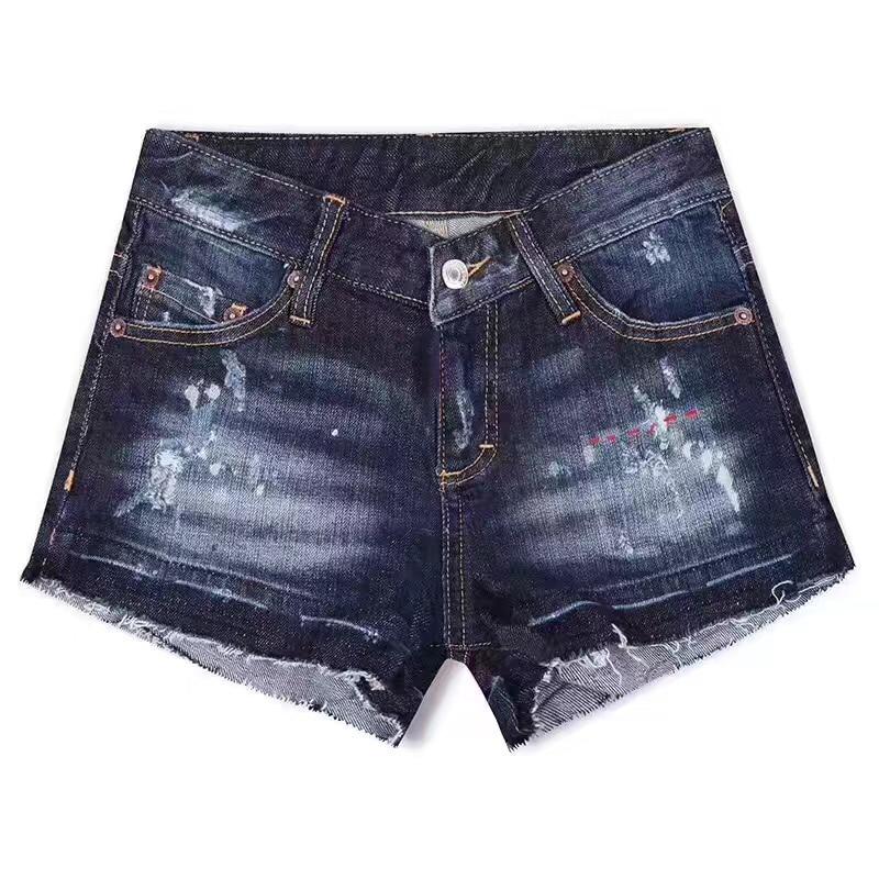 Denim Vaqueros Verano Cintura Pantalones Caliente Casual Modelos De Cortos Venta Azul Mediados Mujeres Libre Nuevos Del Elástico Envío 2017 Moda q6zAExRa