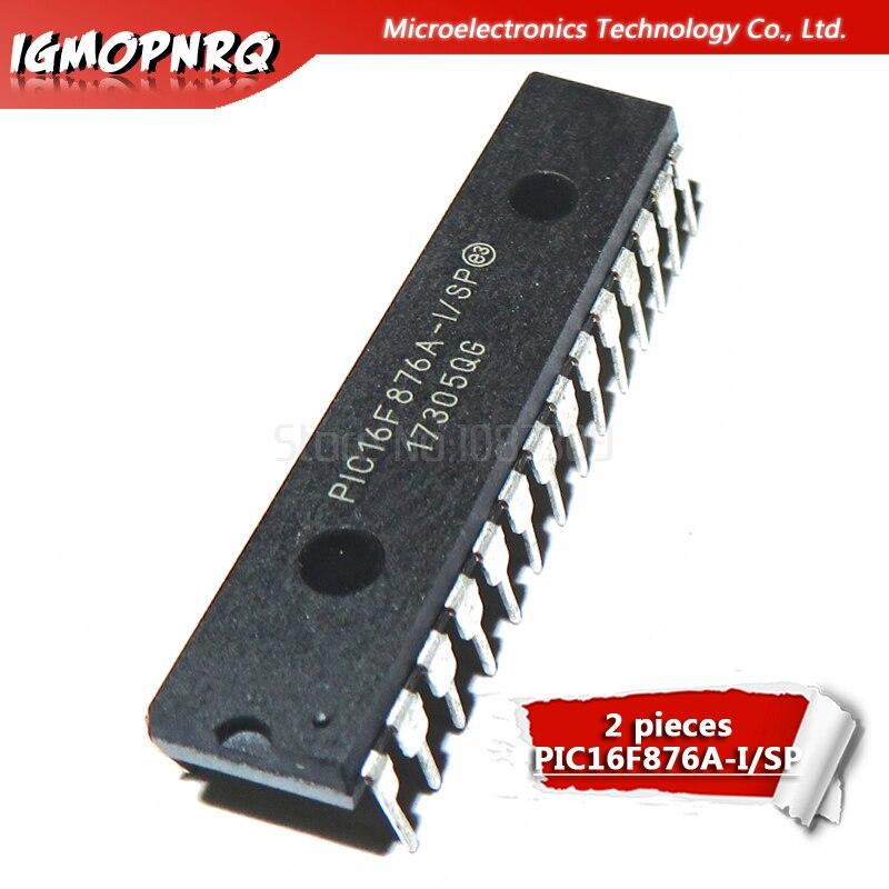 2 stücke PIC16F876A-I/SP PIC16F876A 16F876A DIP28 nhanced Flash-mikrocontroller neue original