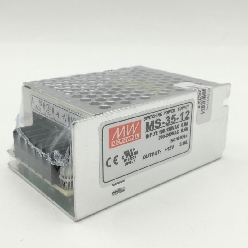MS 35 Вт 12 В 3A 100 В-240 В вход Малый Объем Один Выход импульсный источник питания для AC DC преобразователь ...
