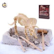 UKEN скелеты динозавров копать It Out Наборы игрушки в виде ископаемых животных 3D головоломки археологических игрушки т-Рекс Динозавр