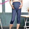 Happy Cherry Summer Adjustable Waist Maternity Casual Solid Jeans Pants For Pregnancy Cotton Legging