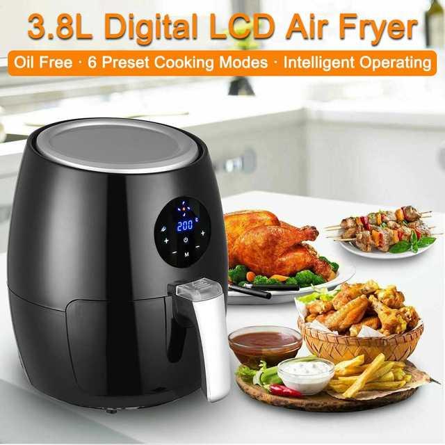 Air Fryer  Touch Screen Timer Temperature Control   Black  4qt  1350W   Kitchen Appliances