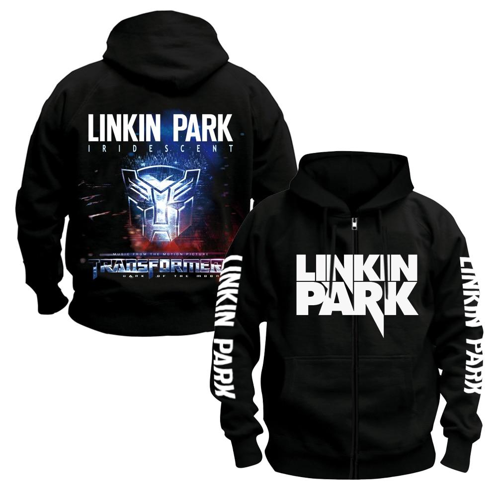 Bloodhoof LINKIN PARK BAND Hoodie Mens ROCK MUSIC black  cotton hoodie Asian SizeHoodies