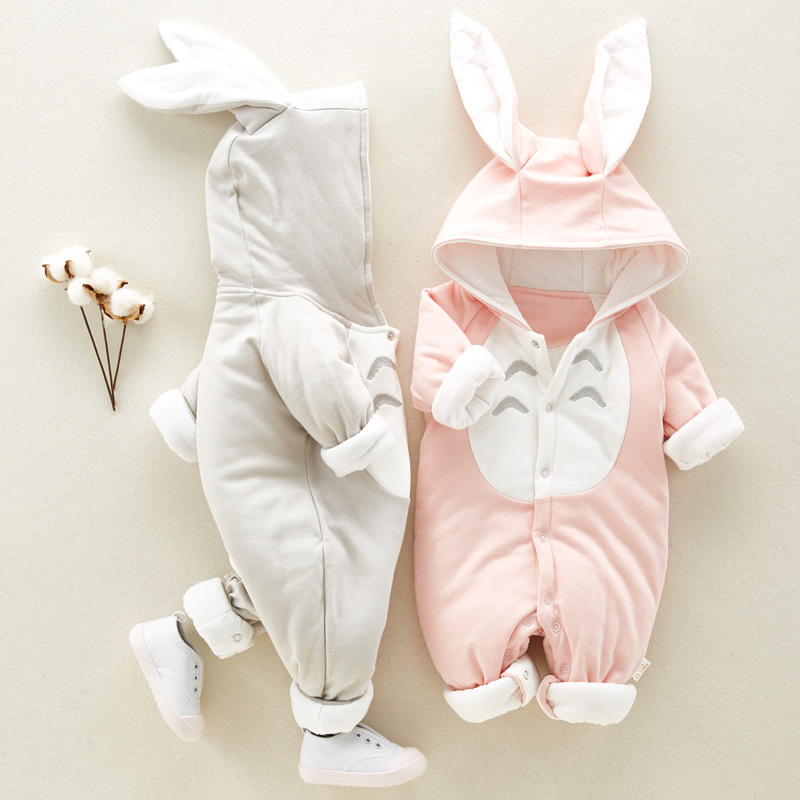 New Spring Autumn Rompers Cute Cartoon Rabbit Totoro Infant Girl Boy Jumpers Kids Baby Outfits Clothes Jumpsuit Overall clothes