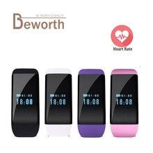 Монитор Сердечного Ритма Смарт Браслет dfit D21 bluetooth водонепроницаемый браслет SmartBand часы фитнес для Android IOS Телефон