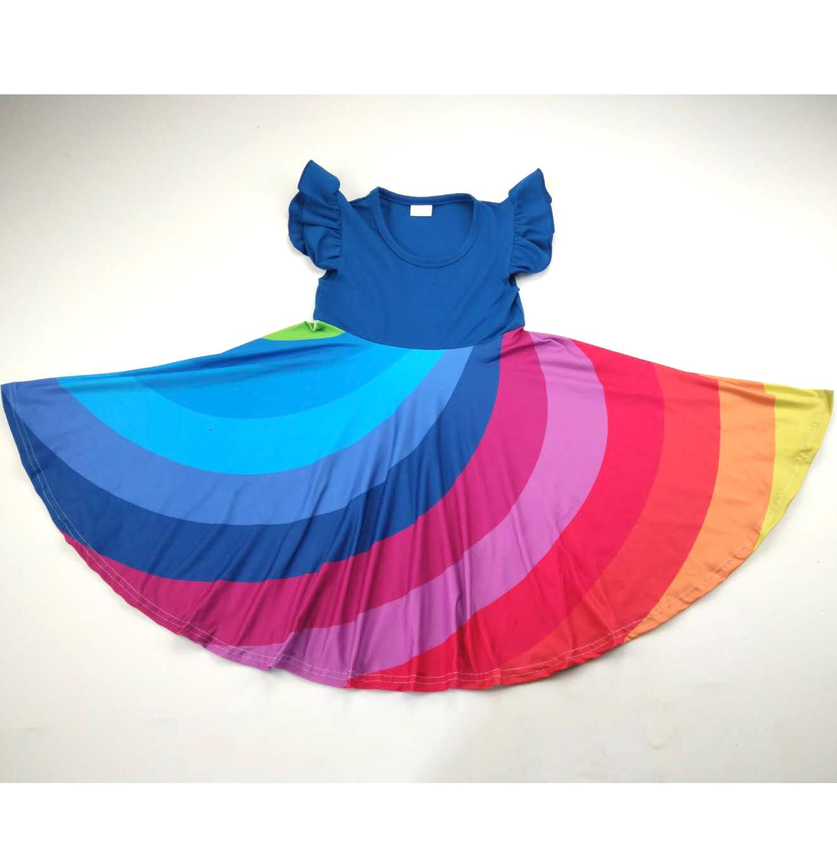 Adorable Super Twirl Dress For Girl Rainbow Twirl Style Dresses