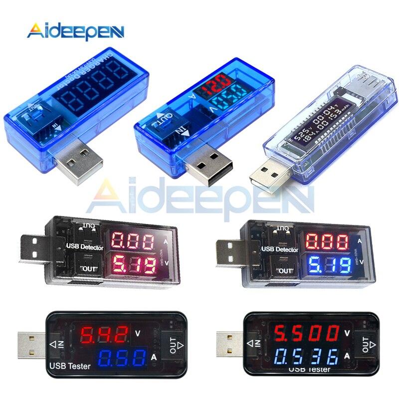 USB Electrical Power Charging Current Voltage Tester LCD Digital Voltmeter Ammeter Monitor Doctor Voltmeter Ammeter Dual Display