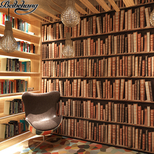 papel de parede retro wallpaper backdrop living room library books bookshelf bookstore cafe conference