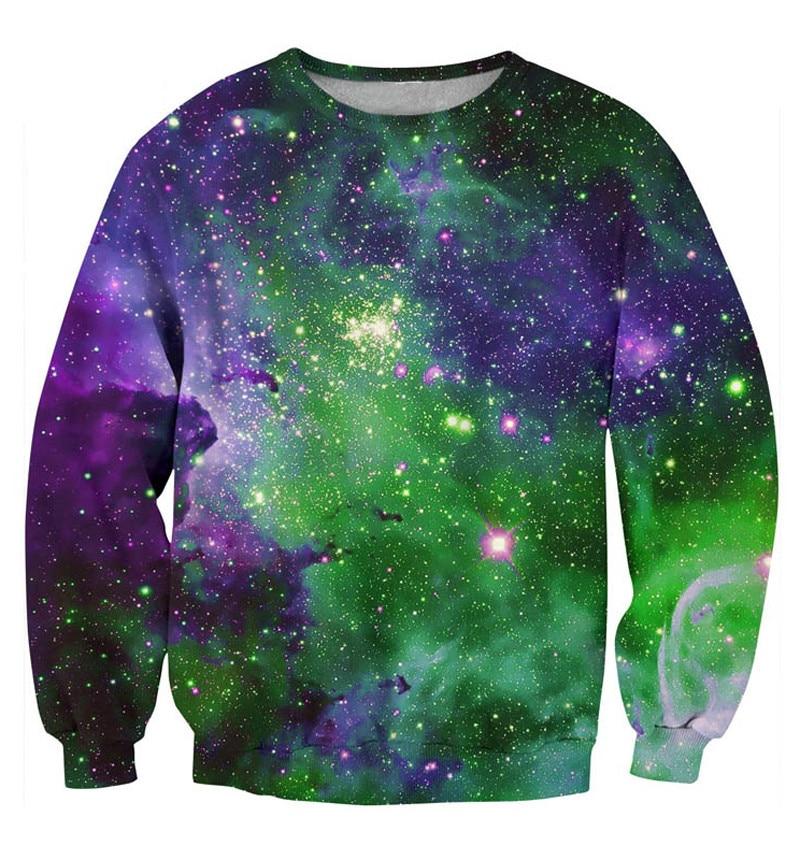 2018 new fashion 3d sweatshirts printed Green Haze hoodie Crewneck galaxy space sweatshirt hoodies  pullover coat