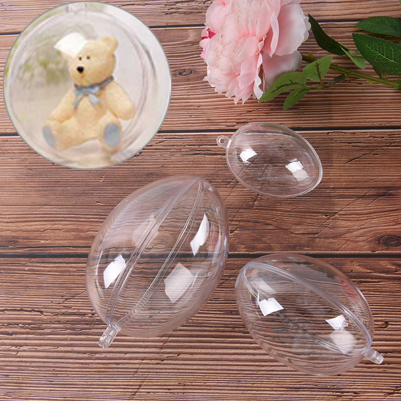 3Sizes Eggs Shape Crafting Home Hotel Decor For Christmas Gift Bath Care Tool DIY Bath Bomb Mold Plastic Clear Mould Reusable