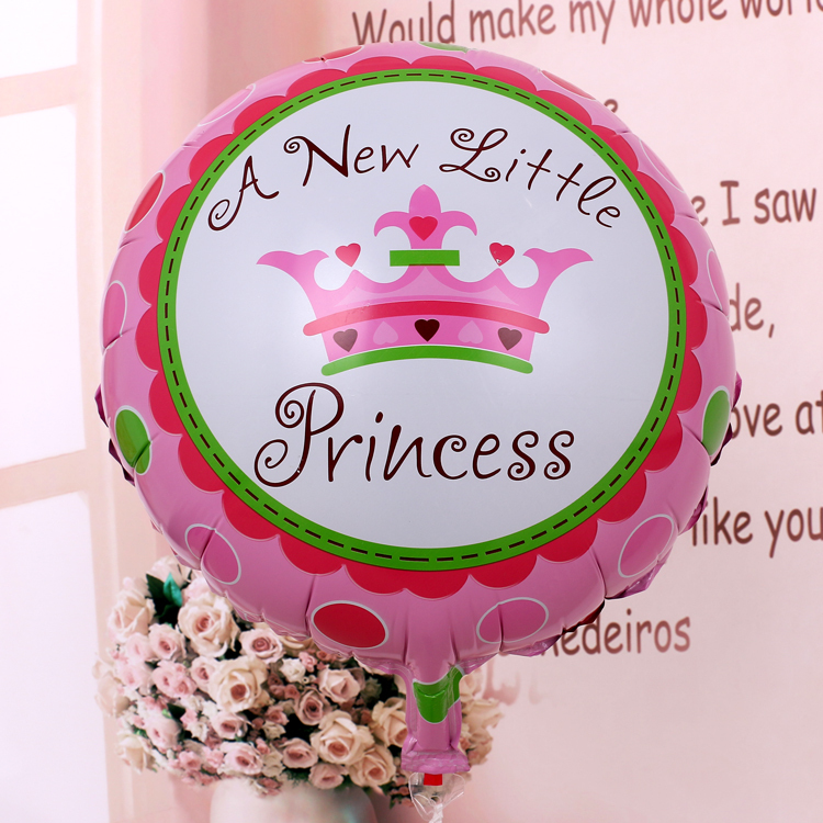 2pcs A New Little Princess Baby Shower Prince Crown Foil Balloons Birthday  Party Decoration Globos Party Baby Boy Gilrs Balls In Ballons U0026 Accessories  From ...