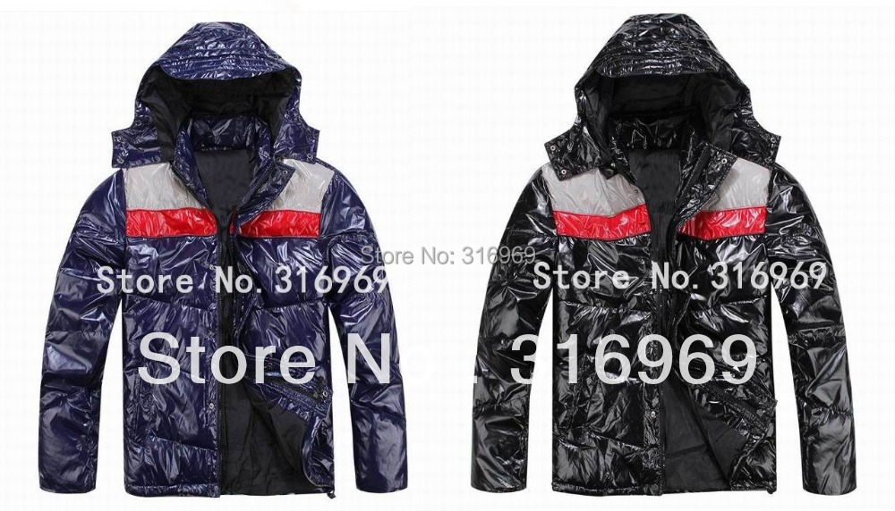 2015 men's jacket stripes parka men designer clothes hooded ski suit JACM-105 - Sunny fashion boutique outlet store
