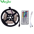 5050 RGB LED Strip 5M 150LED 5050 SMD + 44Key Remote Controller Nonwaterproof RGB LED Strip Light Free Shipping