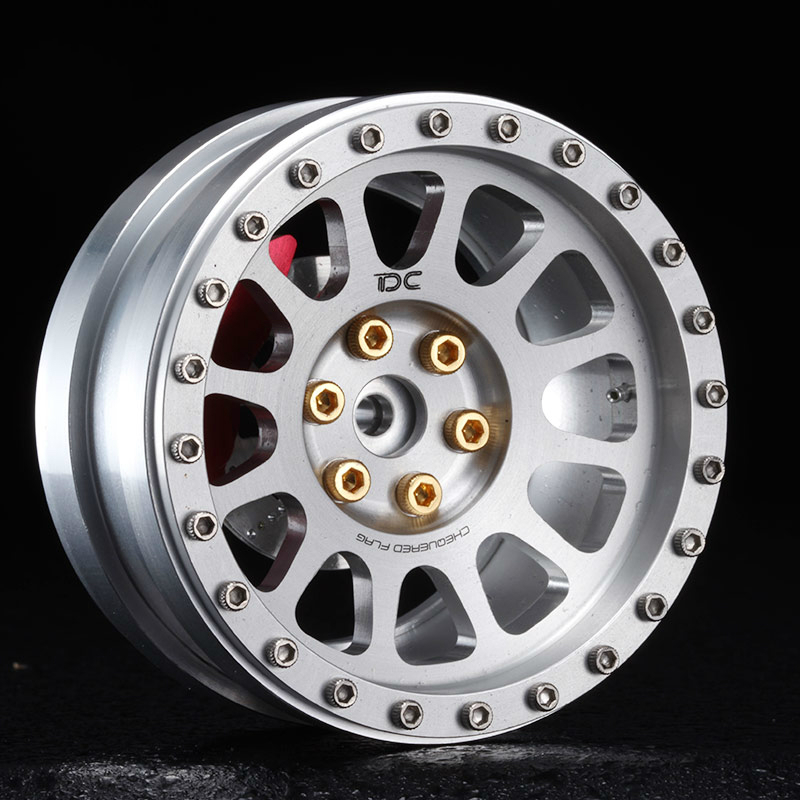 2PCS 1:10 Rc 2.2inch Simulation Crawler Car Metal Wheel Hub For RC4WD CCO1 Traxxas Trx-4 Trx4 D90 D110 Axial Scx10 90046 90047 metal front bumper for 1 10 traxxas trx4 d110 rc crawler car part