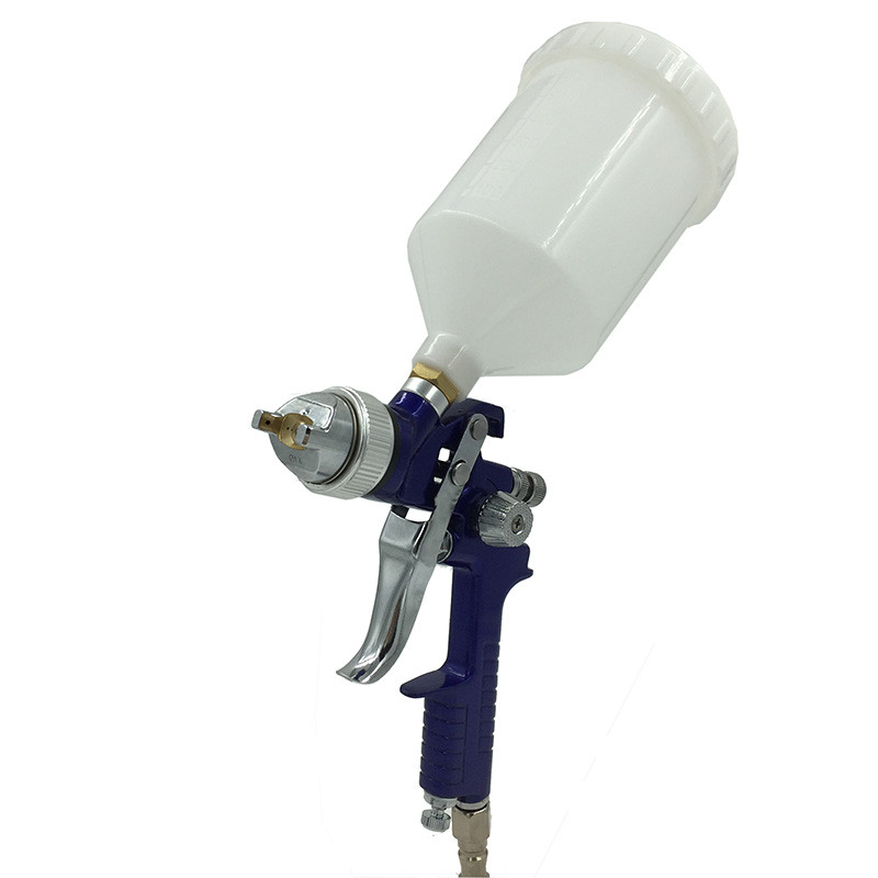 цена на SAT1191 high quality HVLP spray gun gravity feed 1.4/1.7mm car painting sprayer pneumatic paint gun air wall painting tools