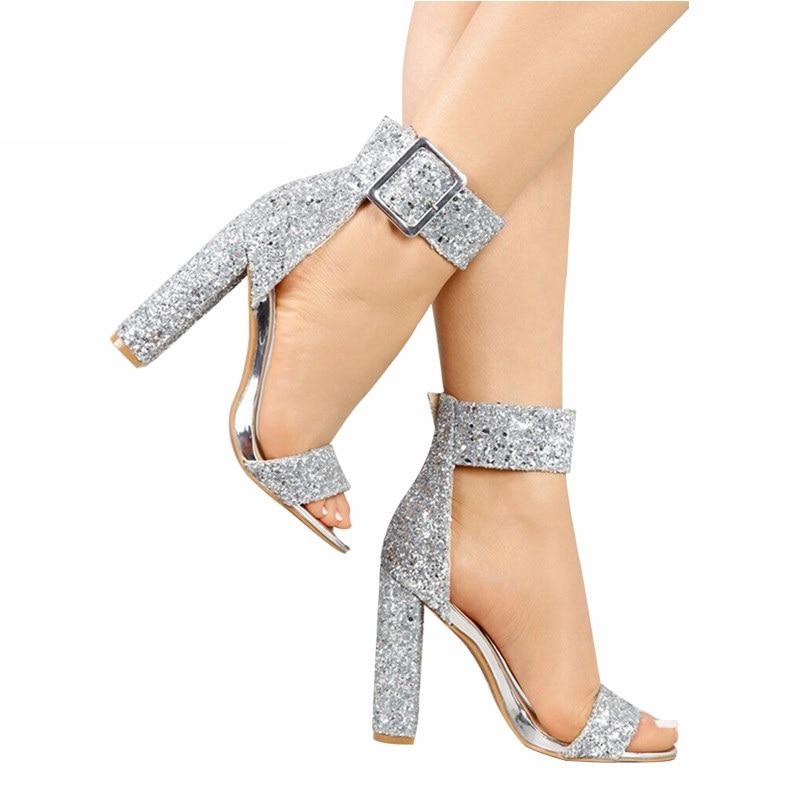 Summer silver sandals women luxury