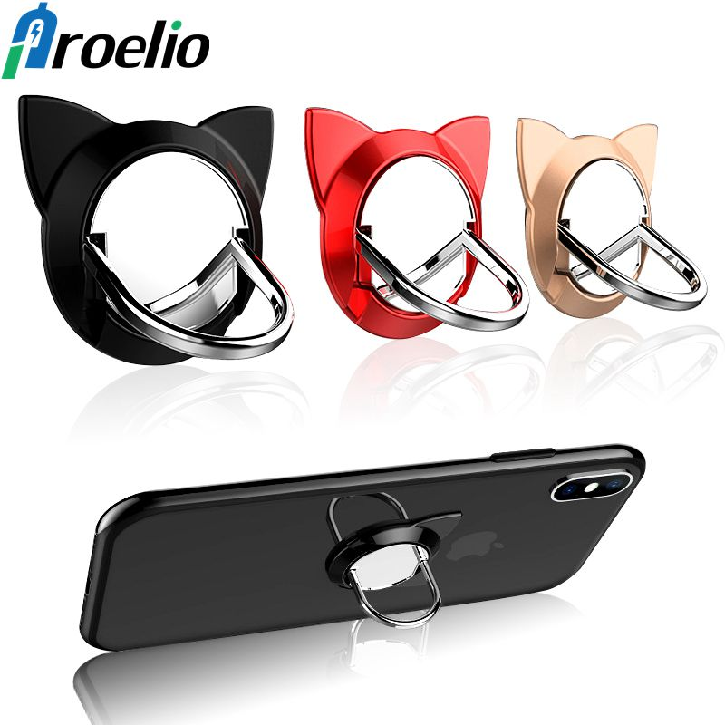 Proelio Magnetic 360 Degree Metal Mobile Phone Holder Universal Phone Ring Holder Stand Bracket For iPhone Samsung ipad Tablets