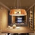 Art OAK Arylic lâmpada De Madeira sala de estar sala de jantar iluminação minimalista e moderno hotel personalidade luz pingente de madeira sólida