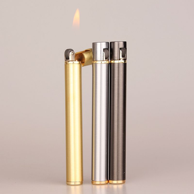 2018 New Creative Mini Compact Jet Butane Lighter Metal Cigarette Shaped Inflatable Gas Lighter Cigarette No Gas Free Shipping-in Matches from Home & Garden