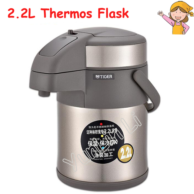 2 2l Thermal Insulation Kettle Household Stainless Steel Thermos Bottle Air Pressure Type Hot