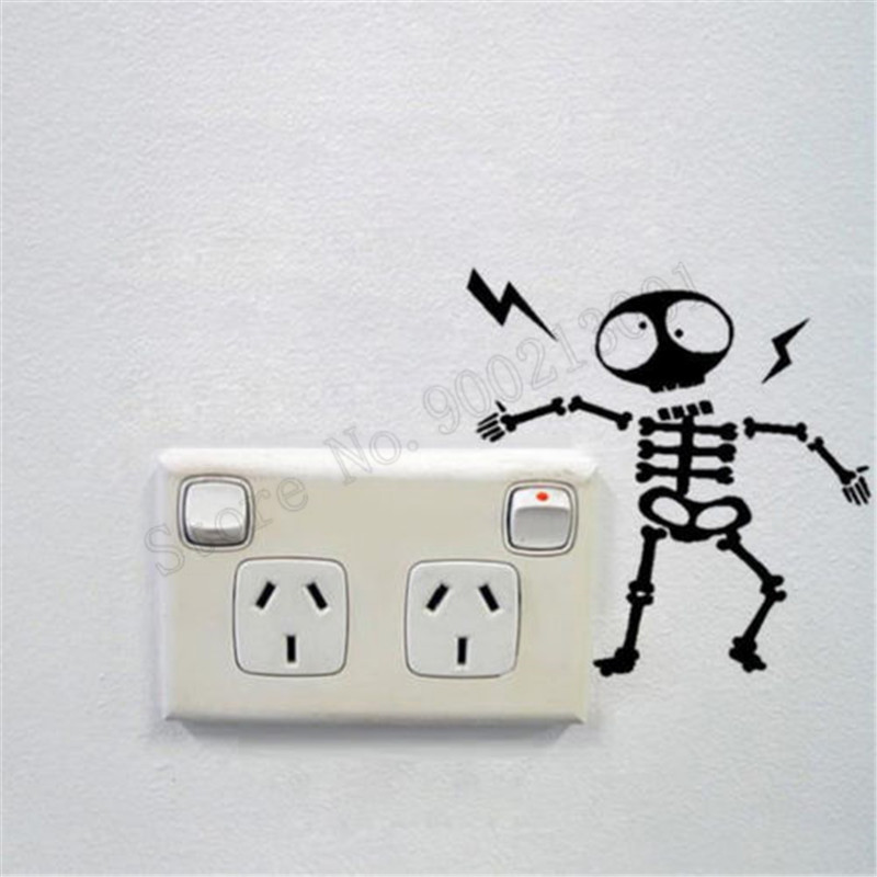 Individuality Skeleton Light Switch Sticker Wall Decoration Vinyl - Vinyl-decals-to-decorate-light-switches-and-outlets