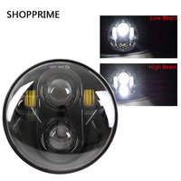 5 3/4 Inch Front Headlight 5.75 New David LED Headlamp For Softail, Dyna Sportster Models Front Led Headlight Harley