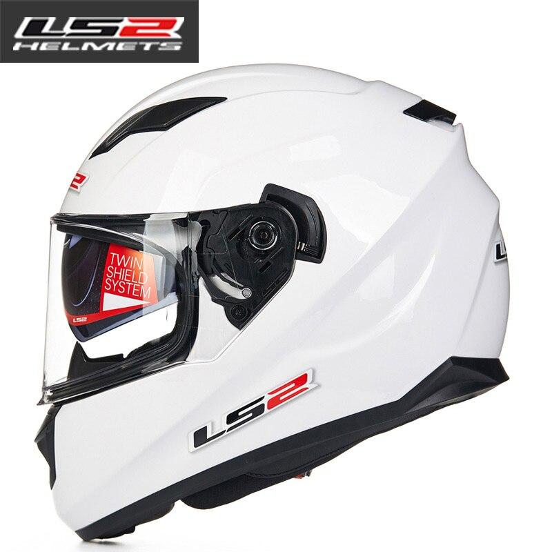9c160bfecee LS2 FF328 full face motorcycle helmet with inner sun visor man racing  motorbike helmet DOT approved LS2 moto HELMETS-in Helmets from Automobiles  ...