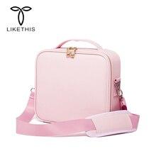 Likethis bolsa organizadora para cosméticos, nova bolsa feminina para viagens, de maquiagem, grande capacidade, para maquiagem 190717