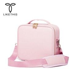 Liketthis nueva bolsa de cosméticos organizadora de viaje para mujer estuches de maquillaje de gran capacidad maletas para maquillaje 190717
