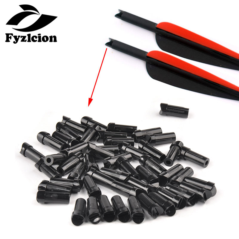 Hunting  Archery Bolts ID7.6mm OD8.8mm Half-moon Nocks Accessories Archery Tails Flecha Arqueria Plastic CrossBow
