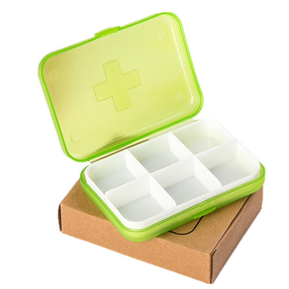 Adjustable Mmini 6 Slots Portable Medical Pill Box Drug Medicine Case Organizer Removable Case For Elderly Outdoor Use 10may 31 Quality And Quantity Assured