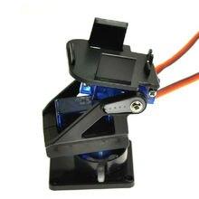 Сервокронштейн PT панорамирование/наклон камера Платформа Антивибрационная камера крепление для самолета FPV выделенный нейлон PTZ для 9G SG90 MG90S