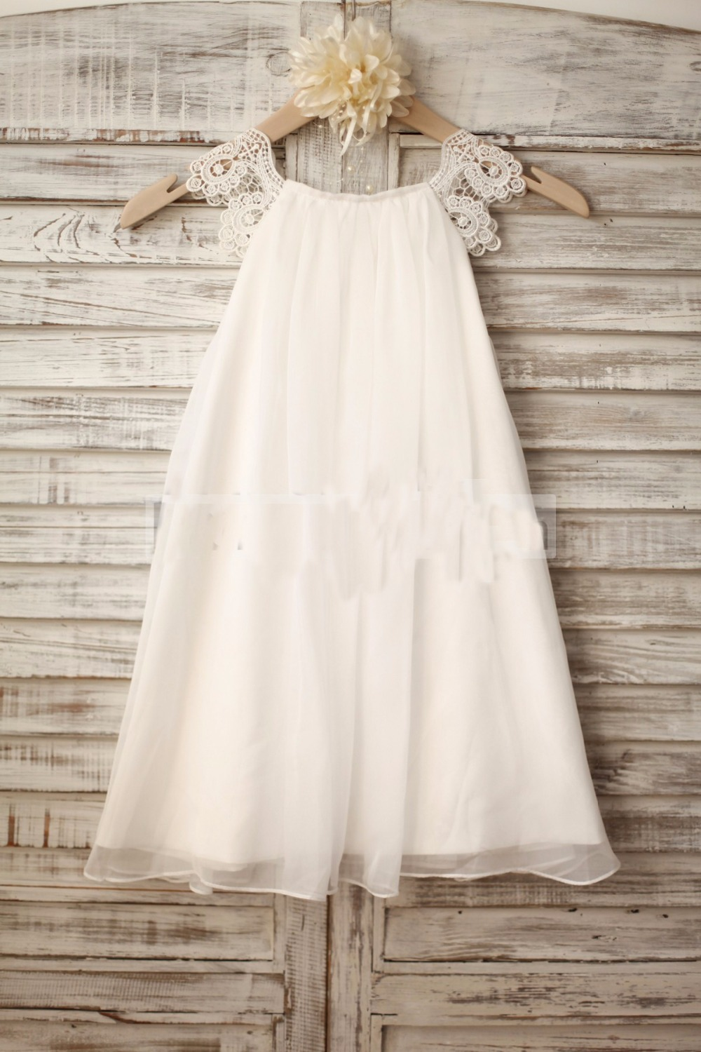 New Arrival A-Line Beach Chiffon   Flower     Girl     Dresses   For Weddings 2019 First Communion   Dresses   Pageant Gown