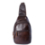 Hot 2017 Nova marca de design de moda preto saco de couro genuíno pacote peito homens mensageiro sacos sacos de ombro do vintage bolsa masculina