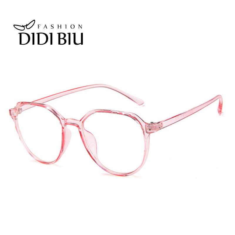 c34a7640b081 ... Cat Eye Plastic Leopard Glasses Frame Polygon Vintage Spectacle Frames  For Women Men Transparent Eyewear Frames ...