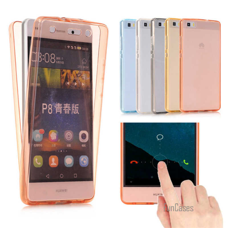 Voor Huawei P8 P9 Lite Transparant Case 360 Volledige Beschermende Clear Case Voor Huawei P8 P9 Case Siliconen Gevallen Tpu full Body Cover