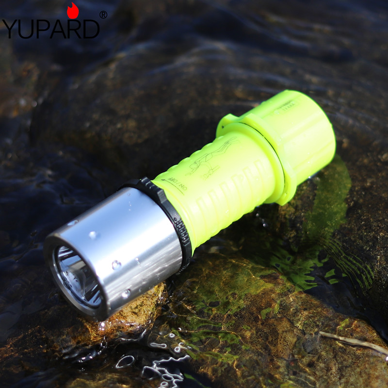 yupard XM-L2 T6 LED Q5 LED penyelam Diving Waterproof Underwater Senter Torch 18650 / AAA