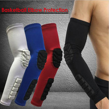 Arm Warmers Basketball Sleeves Honeycomb Sponge Anti-collision Non-slip Compression Elbow Pads Protector Armband Sport Safety A
