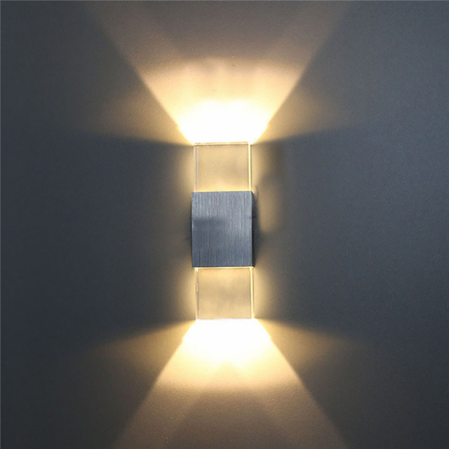 Moderne 2 W LED Wandlamp Badkamer Licht Wandlampen Acryl Crystal ...