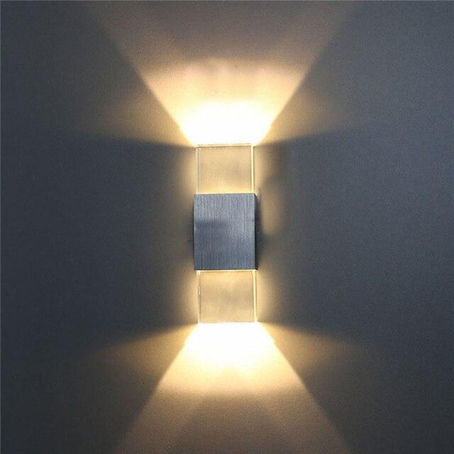 Moderne 2 Watt LED Wandleuchte Badezimmer Licht Wandleuchten Acryl ...