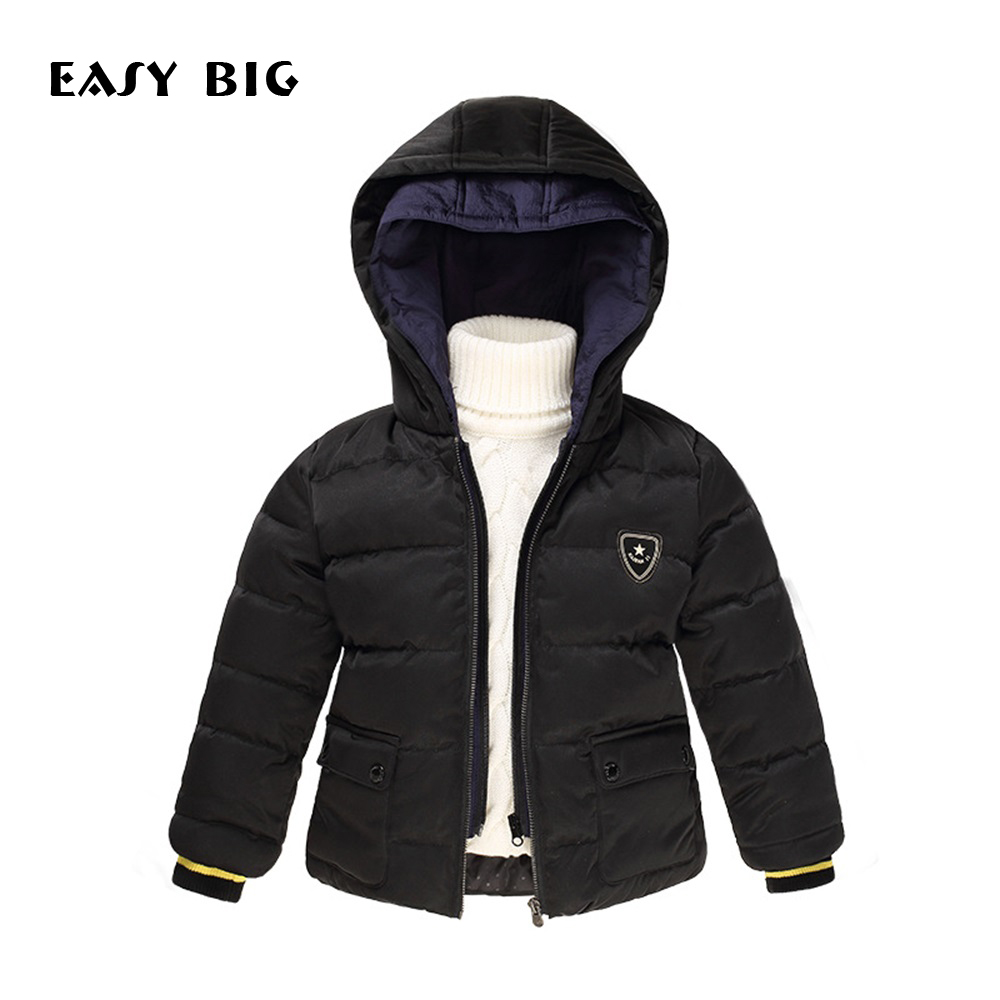 EASY BIG Winter Warm Hooded Children Down Jacket For Boys Children Parkas Jacket For Boys CC0127 allishop 30m rp sma male to sma female connectors rf adapter wifi wireless antenna extension cable lmr195 ultra low loss