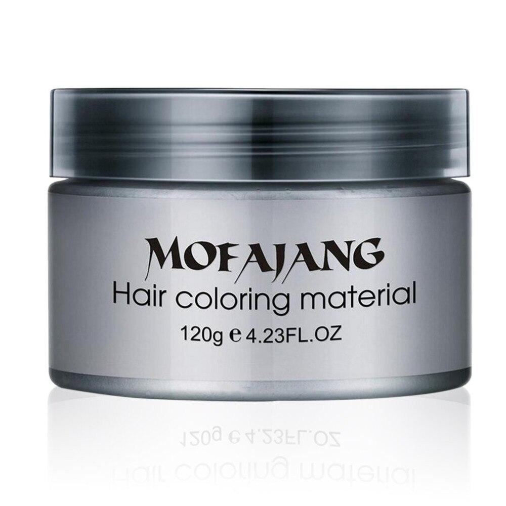 MOFAJANG Colorazione Tinture per capelli Fango Pomata Crema Salon Hair Styling Argento Cenere Nonna Capelli Grigi Cere Temporaneo Monouso Unisex