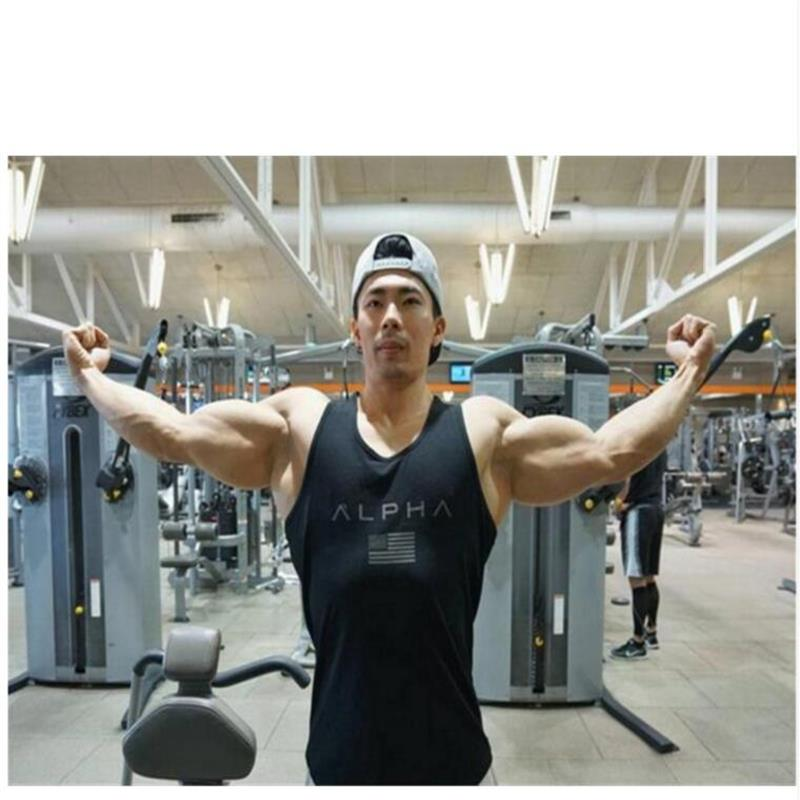 9a86bb390ac440 HooltPrinc 2017Brand Bodybuilding Stringer Tank Tops Men ZYZZ Fitness  Singlets Golds Gyms Clothing Mens Sleeveless Shirt Vest-in Tank Tops from  Men s ...