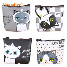 Best Gift Hcandice Women Girls Cute Cat Fashion Coin Purse Wallet Bag Change Pouch Key Holder drop ship bea61012
