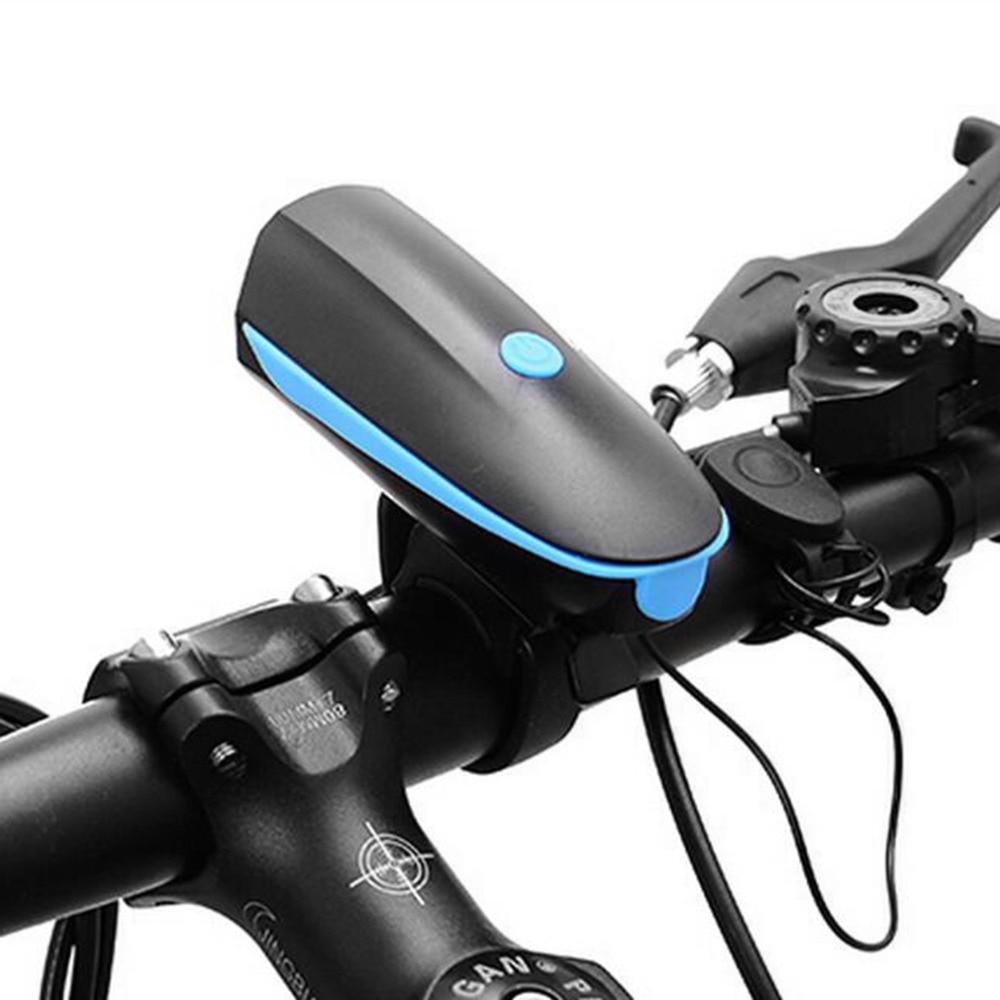 DEROACE Rechargeable LED 3 Flash Mode Bike Light Waterproof Bicycle Lamp Cycly Headlight Handlebar Electric Horn Bike Accessory